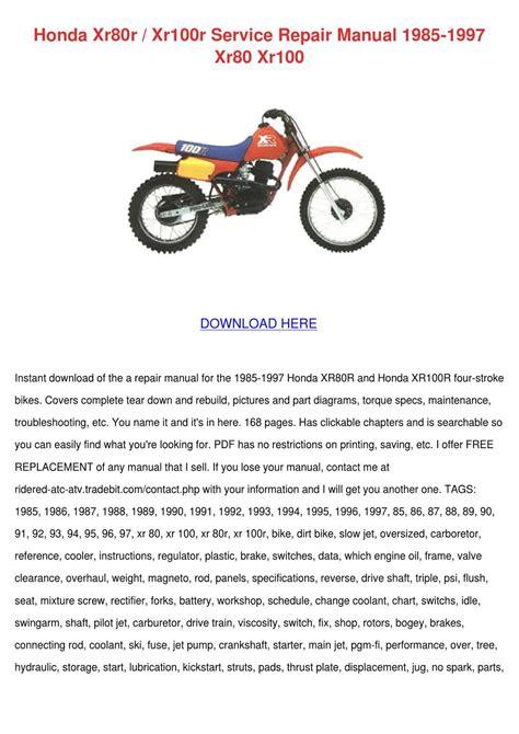 small engine repair manuals free download 1997 honda accord security system honda xr80r xr100r service repair manual 1985 by francisca norena issuu