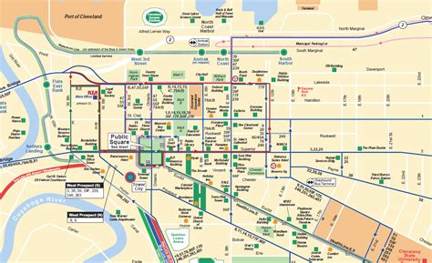 downtown cleveland map the u route cleveland streetcar
