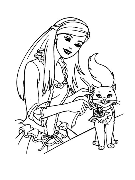 Barbie Coloring Pages Coloring Pages For Kids Princess Cat Coloring Pages Free Coloring Sheets