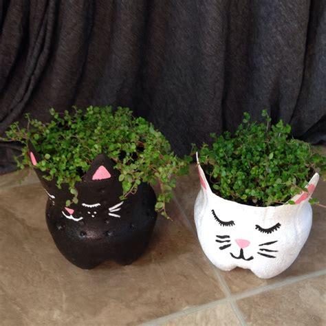 plastic 2 liter bottle planter quick craft soda bottle kitty planters alaska knit nat