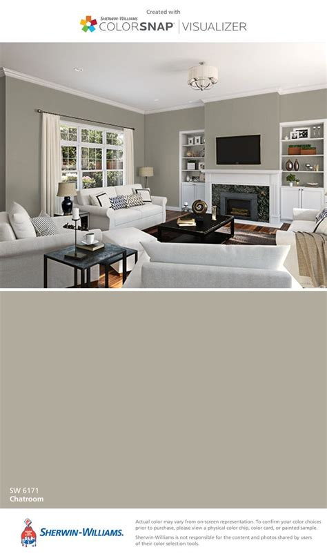 i found this color with colorsnap 174 visualizer for iphone by sherwin williams chatroom sw 6171
