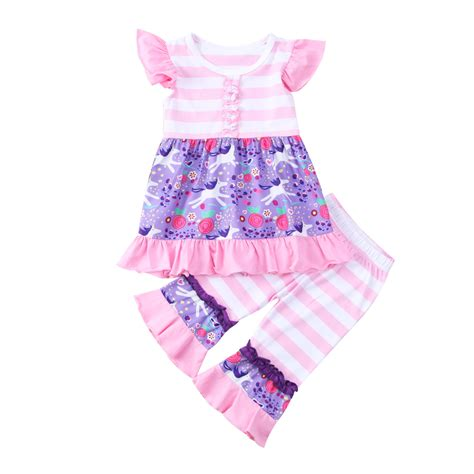 new year 2018 baby clothes 2018 toddler baby flying sleeves striped