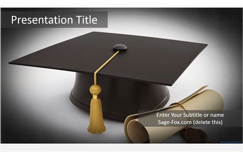 Free Graduation Cap Powerpoint Template 5895 Sagefox Powerpoint Templates Graduation Powerpoint Template