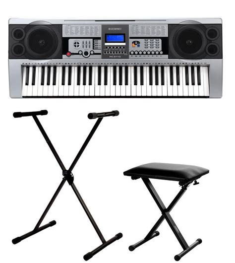 keyboard with stand and bench mcgrey pk 6100 w keyboard set incl stand and bench