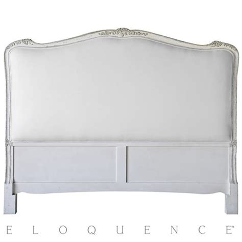 eloquence 174 headboard silver antique white two