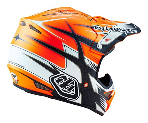orange motocross helmet troy designs 2016 mx air starbreak matte orange