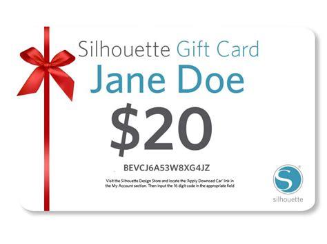 Silhouette Gift Card - silhouette america e gift card silhouetteamerica com giftcard