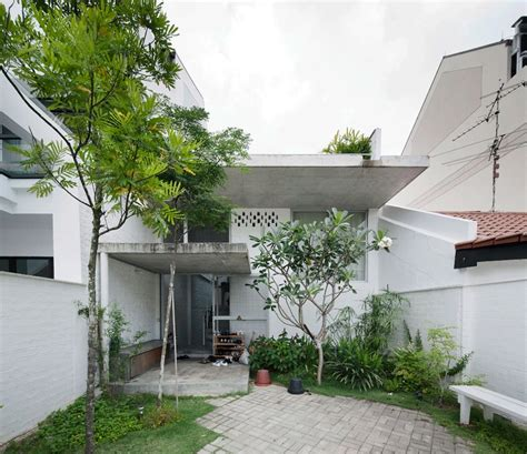 interesting terrace house design in singapore by linghao