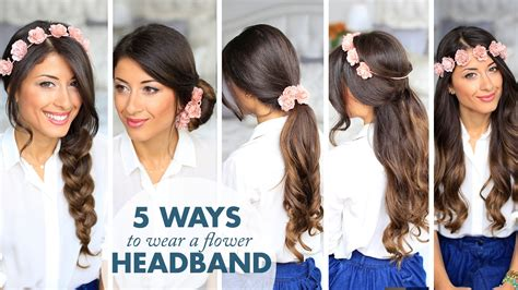 5 ways to wear a flower headband youtube