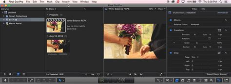 final cut pro white balance white balance footage in final cut pro x