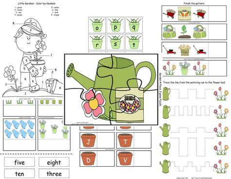 Gardening Worksheets Garden Fb Fan Freebie The Treasured Schoolhouse