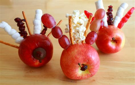 Diy Craft Projects gobbling turkey apples make and takes