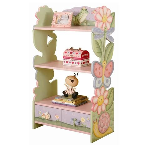 magic garden book shelf with drawer wrappings