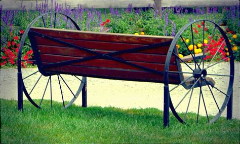 metal wagon wheel bench wagon wheel bench by lori seaman