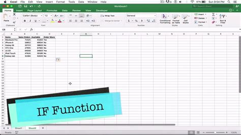excel tutorial 2010 if function if function excel 2016 tutorial with if formula exle