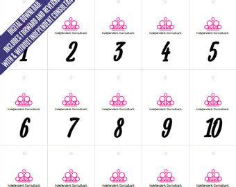printable numbers for live sales paparazzi jewelry live sales forward and reverse mirror