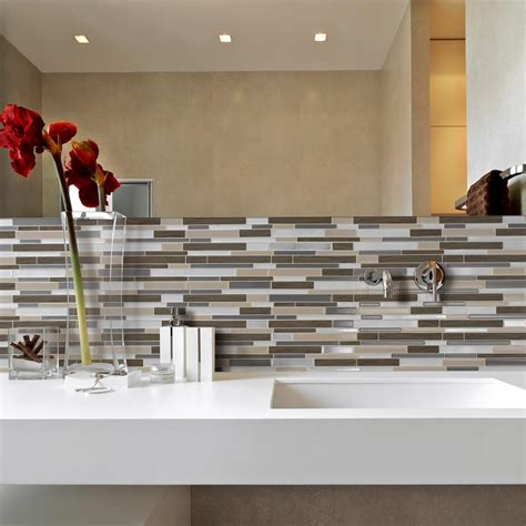 decorative wall tiles kitchen backsplash smart tiles lino 11 55 in w x 9 63 in h peel and