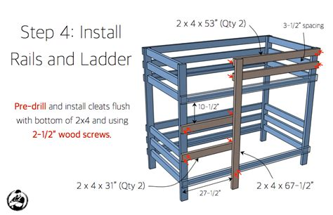 2 215 4 bunk bed plans bed plans diy blueprints 2x4 bunk bed 187 rogue engineer
