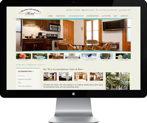 Home Design Websites - island city house hotel web design key west web design