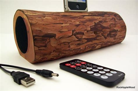 Handmade Speakers - handmade wooden iphone dock speaker gadgetsin