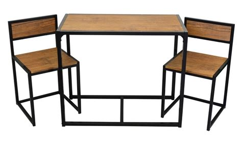 Best Deals On Kitchen Tables And Chairs Three Compact Table And Chairs Set With Free Delivery From 163 49 99 Home Garden