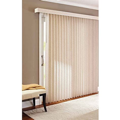 Patio Door Blinds Walmart Better Homes And Gardens Vertical Textured S Slat Privacy Blinds Walmart