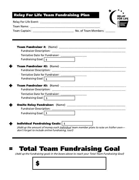 Fundraising Goal Letter team captain meeting 1 handouts