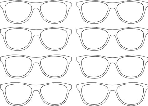 glasses template sunglasses outline clip at clker vector clip