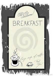 breakfast menu template free template for breakfast menu royalty free stock photography