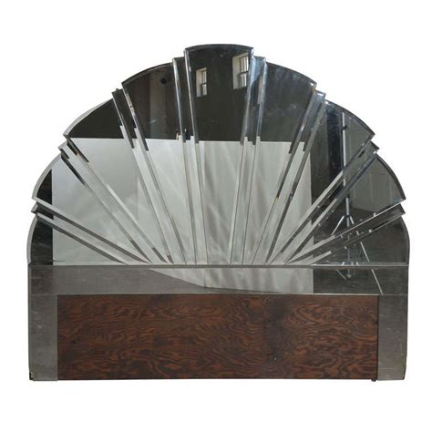 Art Deco Style Mirrored Headboard At 1stdibs