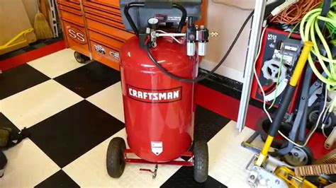 craftsman  gallon compressor hot rodded youtube