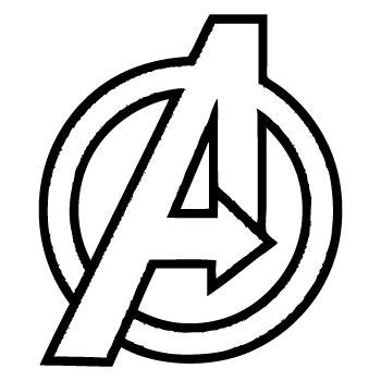 avengers logo coloring page avengers logos and stencils on pinterest