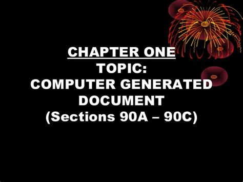 section 90a evidence documentary parol presumption privileges