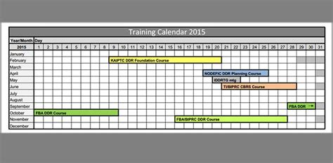training calendar template 25 free word pdf psd