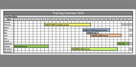 tutorial excel calendar training calendar template 25 free word pdf psd