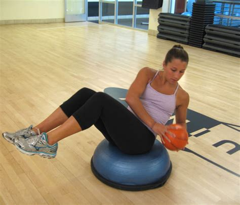 russian twist starting position ab credit bosu for your belly popsugar fitness