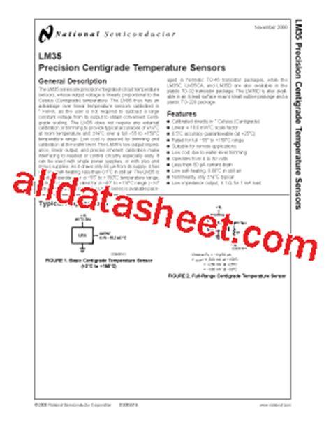 transistor lm35 lm35dz datasheet pdf national semiconductor ti