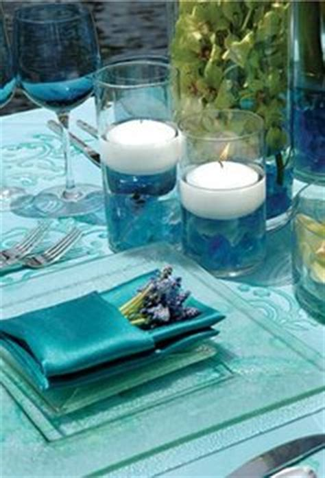 Aqua Table Ls by How Can We Decorate These For Centerpieces Theme Wedding Aqua Centerpieces Ivory