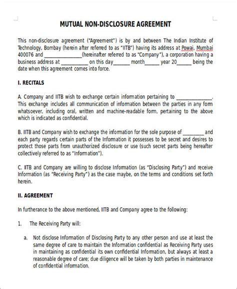 sample  disclosure agreements pdfdoc