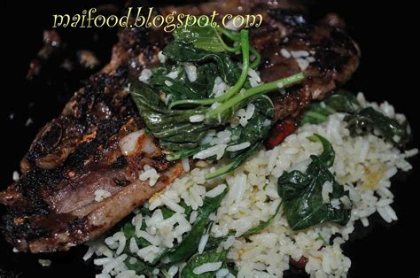 maifood lamb chop  nasi goreng mudah