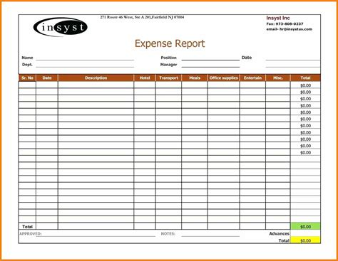 Template Excel Template For Expenses Business Income And Expenses Excel Template