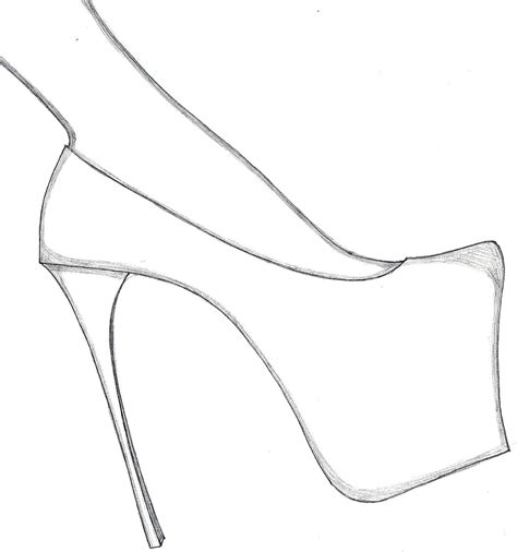 templates for shoes free coloring pages of high heels