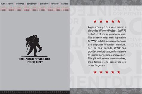 Thank You Note For Donation In Honor Of Someone Donate To Veterans Wounded Warrior Project
