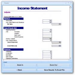 income statements template excel income statement template software