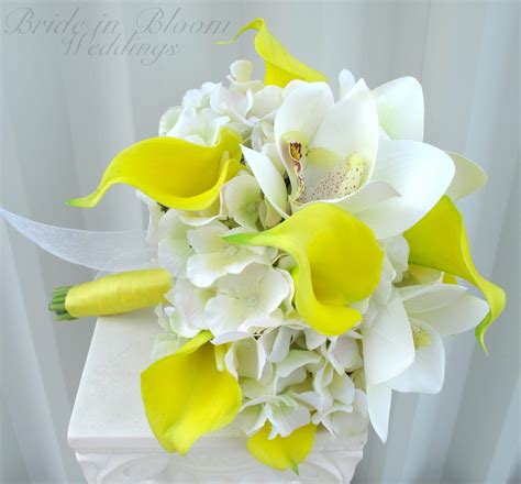 Calla Wedding Bouquet by Yellow Calla Orchid Wedding Bouquet In Bloom