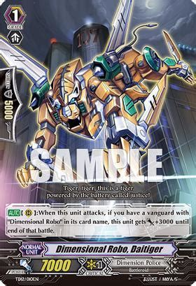 Cardfight Vanguard Singles Dimensional Robo Daihawk dimensional robo daitiger td12 010en td cardfight