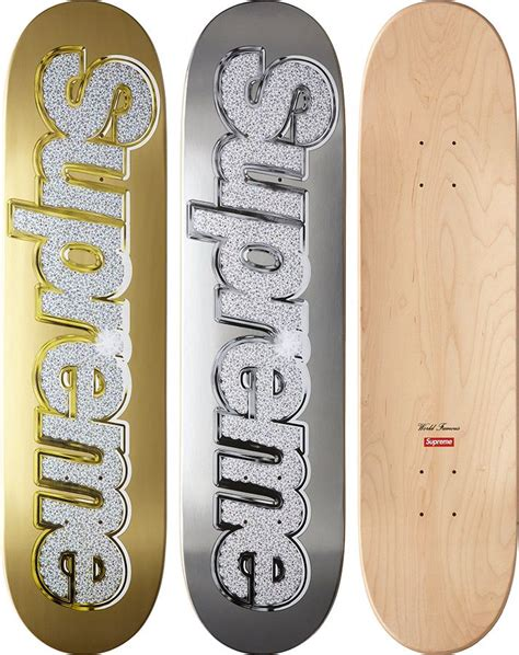 supreme skateboards supreme bling skateboard mens fashion