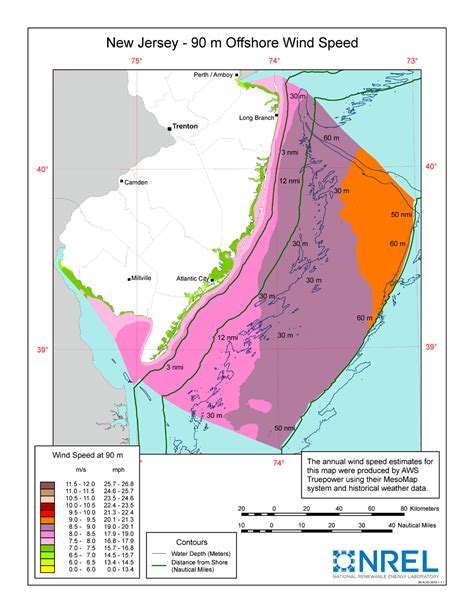 new jersey design wind speed map windexchange new jersey offshore 90 meter wind map and