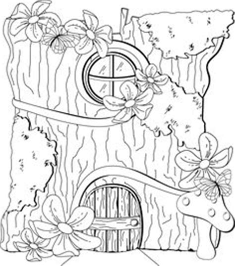 fairy door coloring page crafty printable images b w on pinterest digi sts
