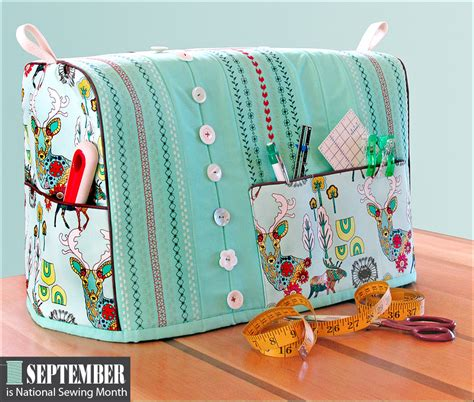 pattern sewing machine cover sewing machine cover with decorative stitching accents it